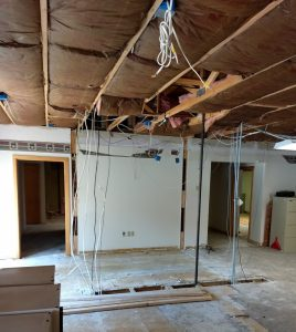 Demo of old office in lobby