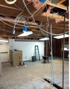 Demo of lobby office and teller area