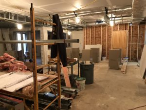 Inside view of materials and new office on left side